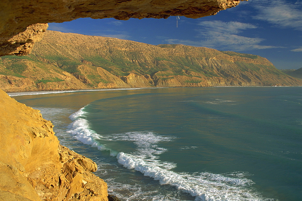 Coastline 100 kms north of Agadir, Morocco, North Africa, Africa