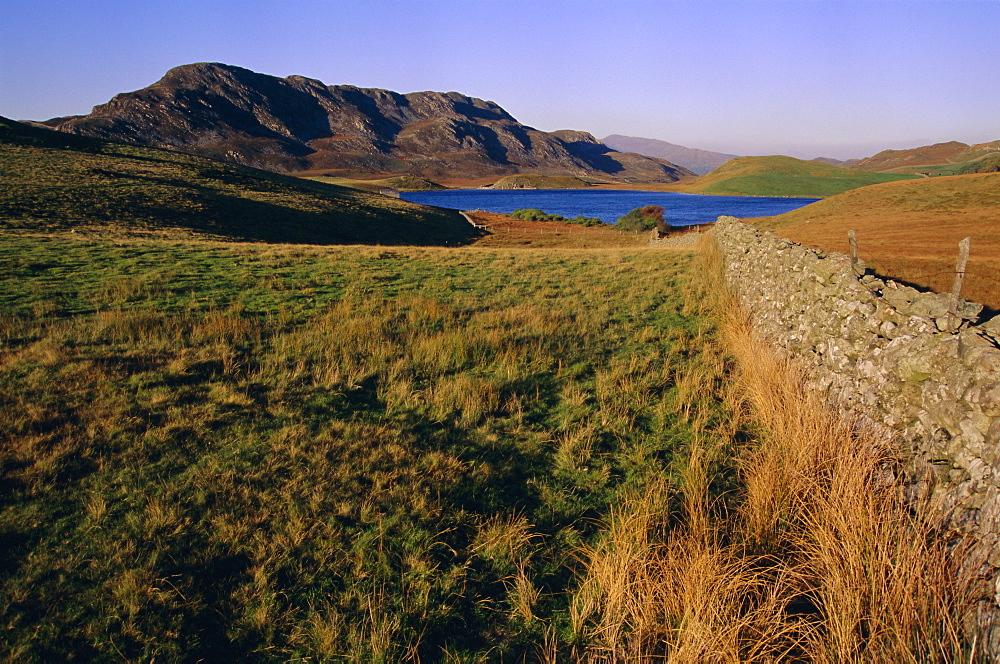 Cadair Idris (Cader Idris) mountain and Gregennen lake (National Trust), Snowdonia National Park, Gwynedd, Wales, UK, Europe