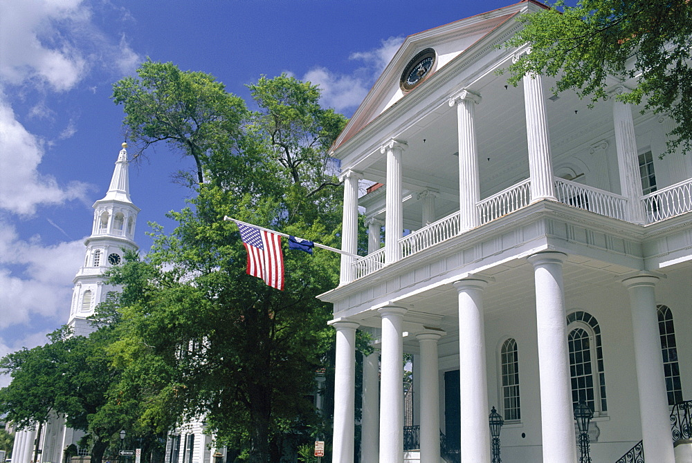 South Carolina Society dating from 1804 in the historic centre, Charleston, South Carolina, United States of America (U.S.A.), North America