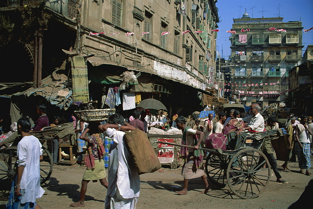 Street scene, Kolkata, West Bengal state, India, Asia - 397-608
