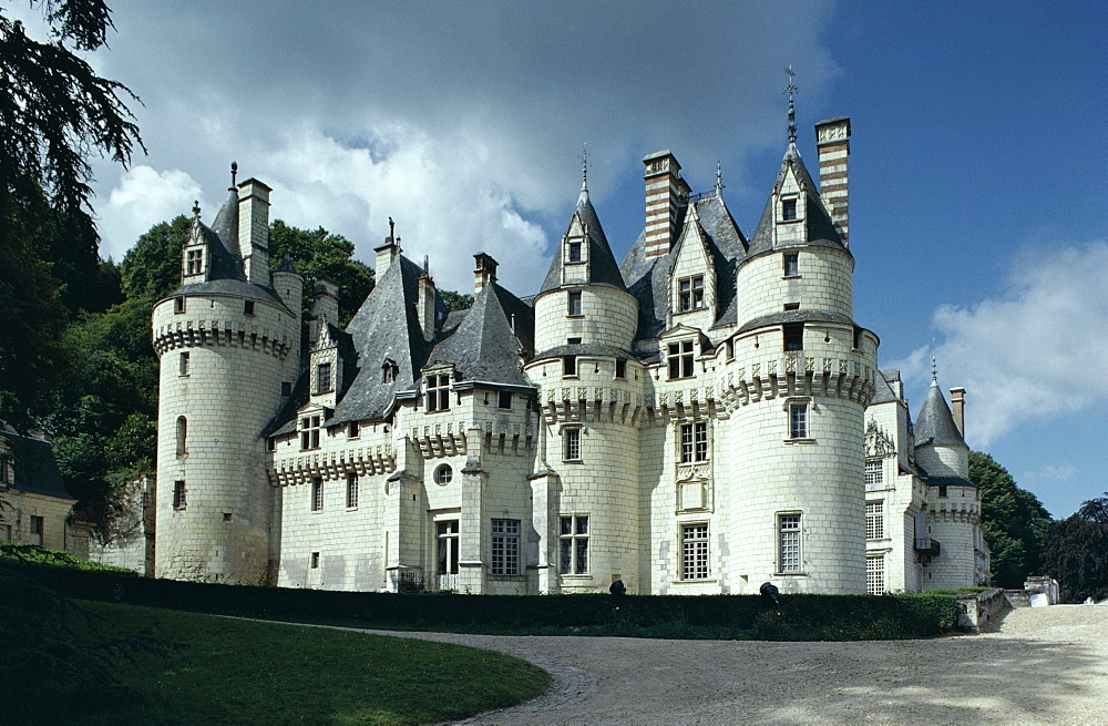 Chateau d'Usse, dating from 15th century, Rigny Usse, Indre et Loire, Centre, France, Europe