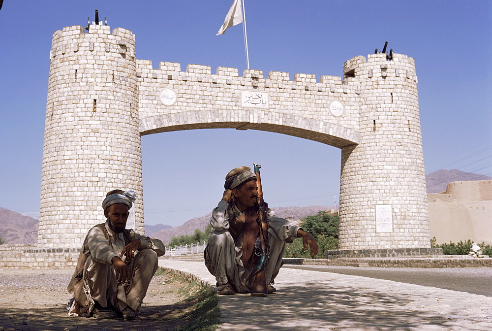 Gate to Khyber Pass at Jamrud Fort, Pakistan, Asia