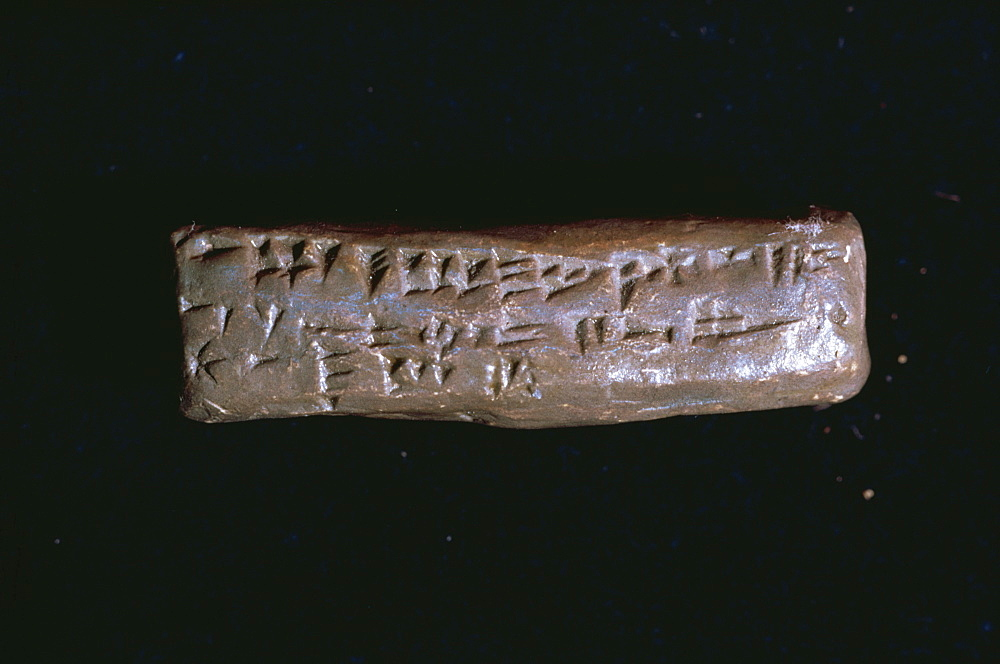 Abecedary of Ugarit, cuneiform oldest known ABC, dating from the 14th century BC, Syria, Middle East - 399-3233