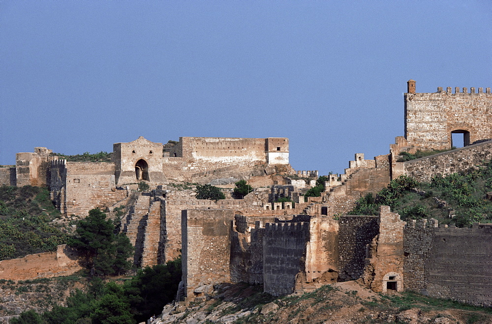 Sagunto, dating from 218 BC, besieged by Hannibal, Arab fort built over earlier acropolis, Valencia, Spain, Europe - 399-3434