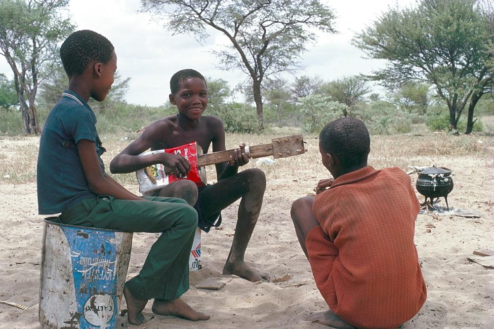 Bushman boys, Kalahari, Botswana, Africa