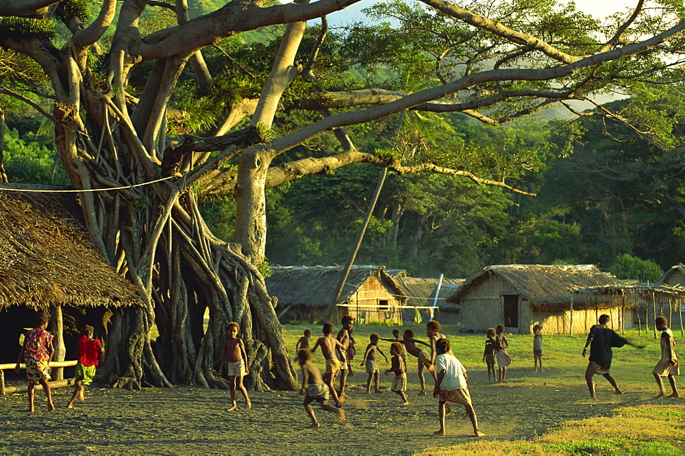 Game of tag, Frum village, Sulphur Bay, Tanna, Vanuatu, Pacific Islands, Pacific