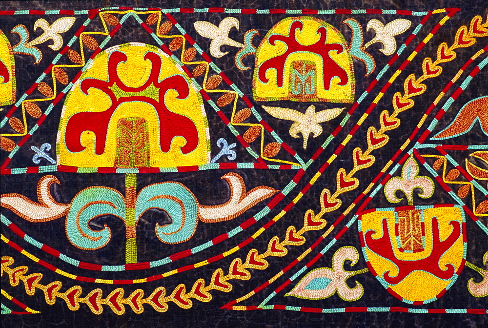 Traditional Kirghiz embroidery, Kyrgyzstan, Central Asia