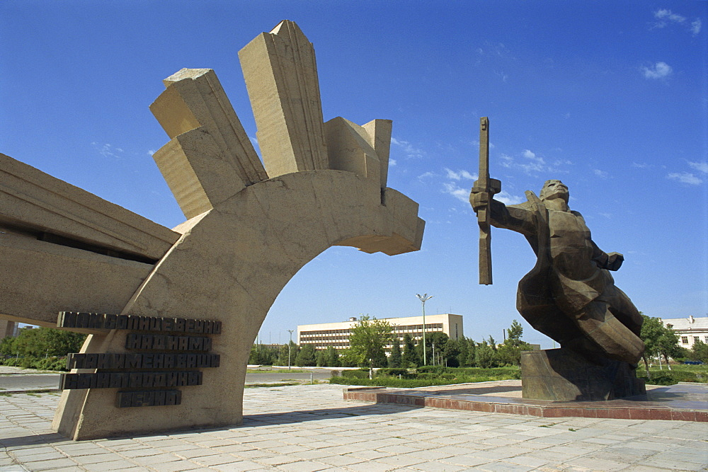 Second World War memorial, Bukhara, Uzbekistan, Central Asia, Asia