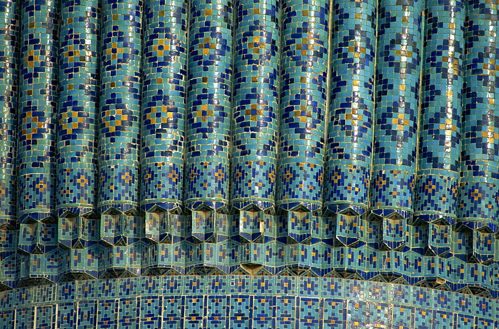 Detail of the dome of the tomb of Tamerlane, Gur Emir, Samarkand, Uzbekistan, Central Asia, Asia