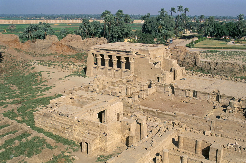 Birth house, forecourt, Temple of Dendera, Middle Egypt, Egypt, North Africa, Africa