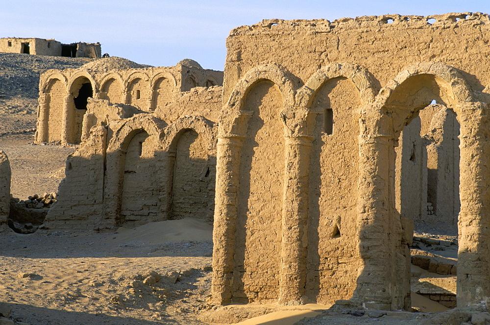 Coptic necropolis, el-Bagawat, Kharga oasis, Western Desert, Egypt, North Africa, Africa