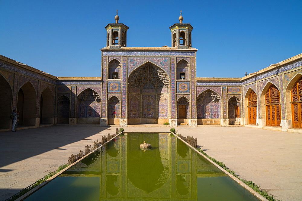 Courtyard of Nasir-al Molk Mosque, Shiraz, Iran, Middle East