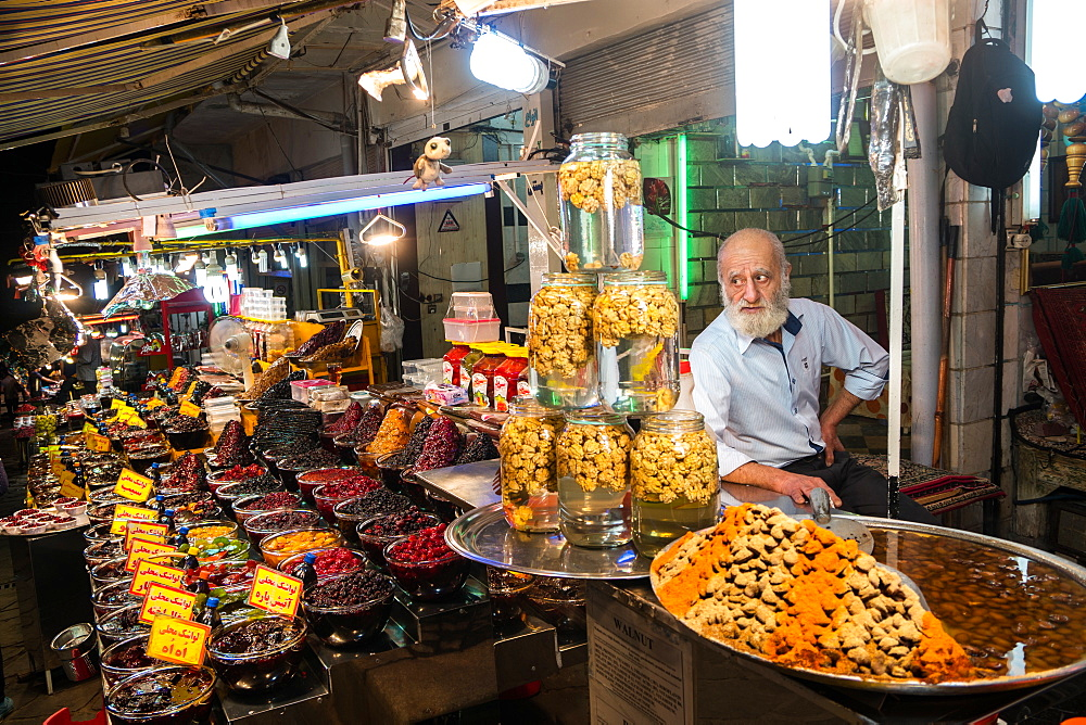 Food stall, Darband, Northern Tehran, Iran, Middle East
