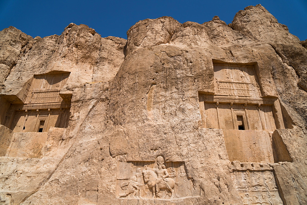 Tombs of Ataxerxes I and Darius the Great, Naqsh-e Rostam Necropolis, near Persepolis, Iran, Middle East
