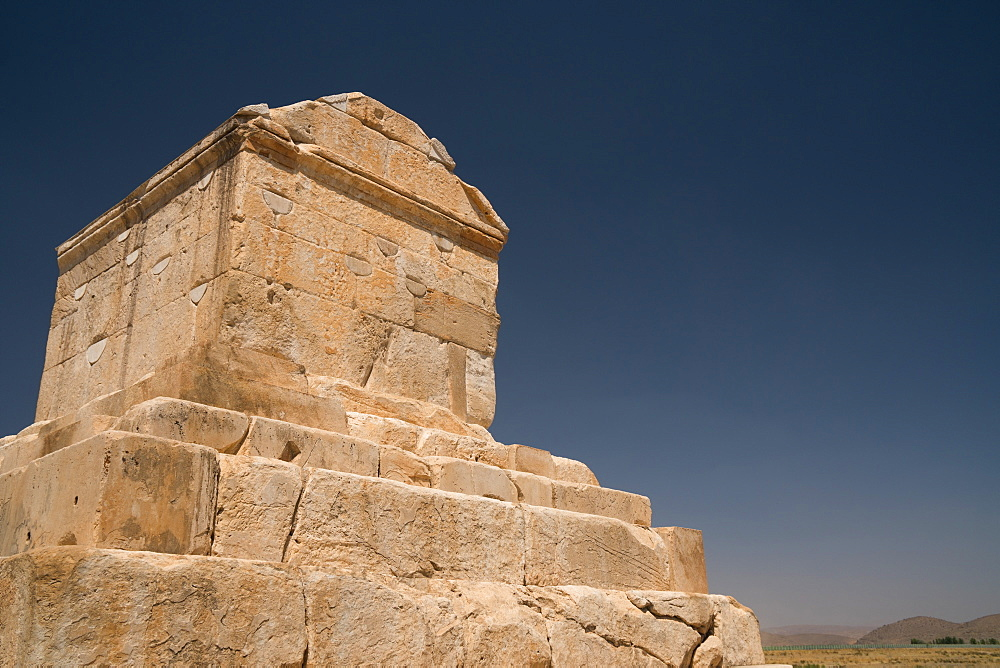Tomb of Cyrus the Great, 576-530 BC, Pasargadae, UNESCO World Heritage Site, Iran, Middle East