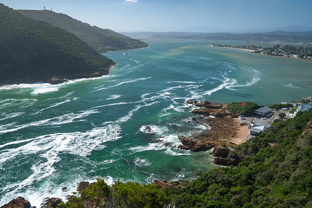 View inland across the lagoon from The Heads, Knysna, Western Cape, South Africa, Africa - 450-4173