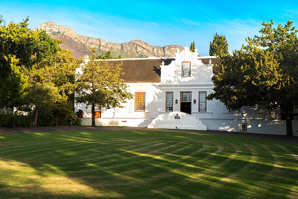 Main house, Lanzerac Wine Estate, established 1830, near Franschoek, Western Cape, South Africa, Africa - 450-4197