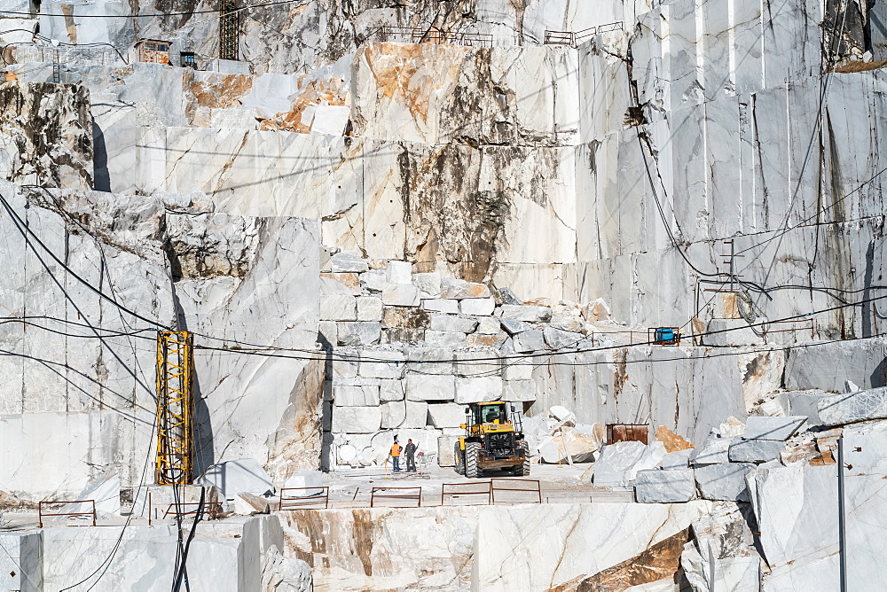 Cervaiole Marble Quarry on Mount Altissimo, Seravezza, owned by Henraux, Tuscany, Italy, Europe