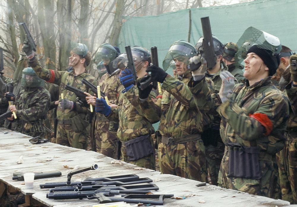 Target practice, War Games, Colchester, Essex, England, United Kingdom, Europe