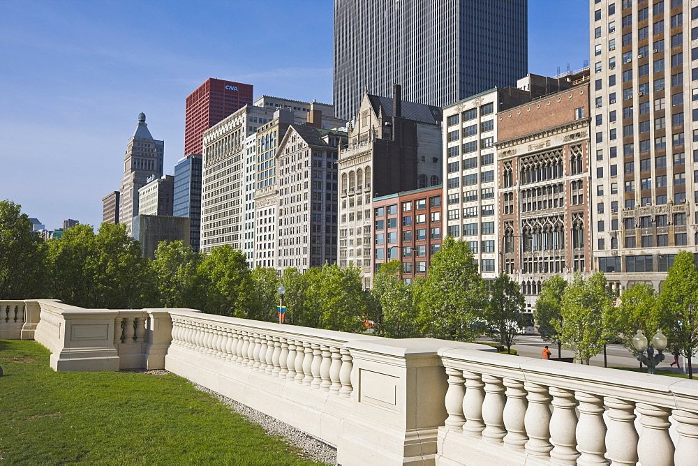North Michigan Avenue by Millennium Park, Chicago, Illinois, United States of America, North America