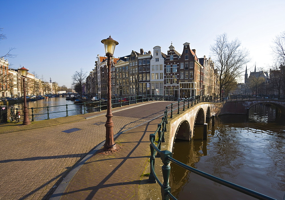 Bridge over the Keizersgracht canal, Amsterdam, Netherlands, Europe
