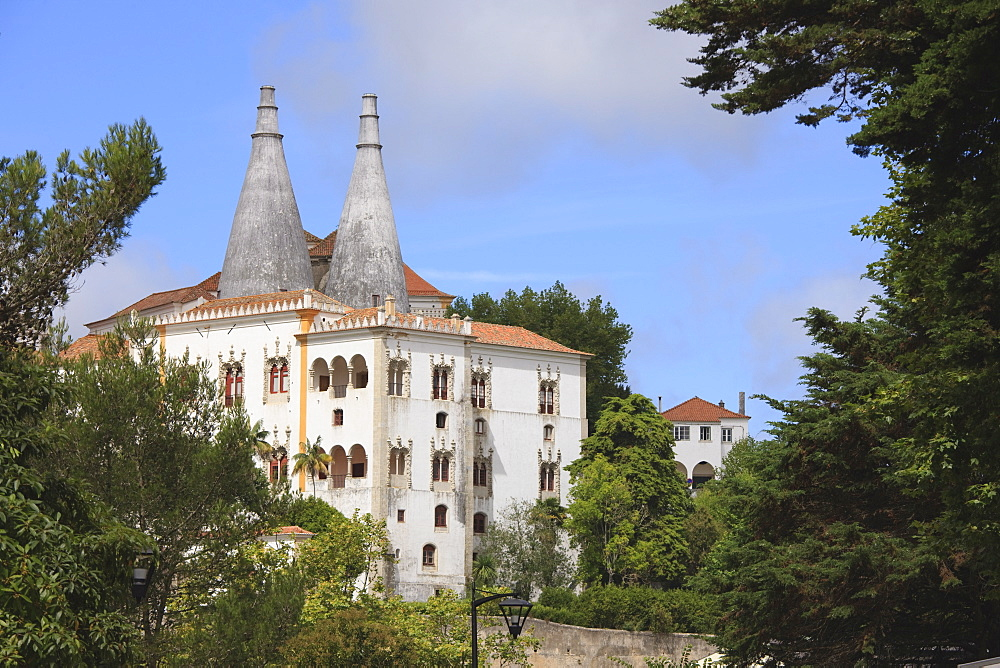 Sintra National Palace, formerly the Royal or Town Palace, Sintra, UNESCO World Heritage Site, Portugal, Europe - 462-2450