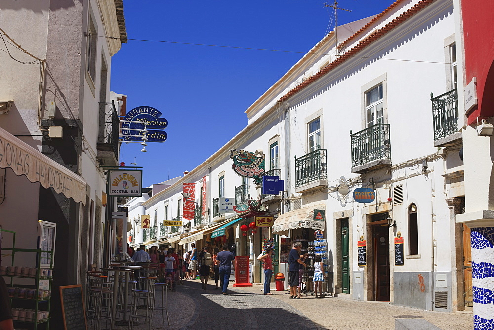 Street in the Old Town of Lagos, Algarve, Portugal, Europe - 462-2479