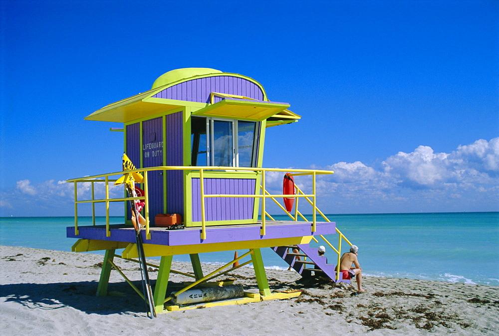 Lifeguard Station, South Beach, Miami Beach, Florida, USA