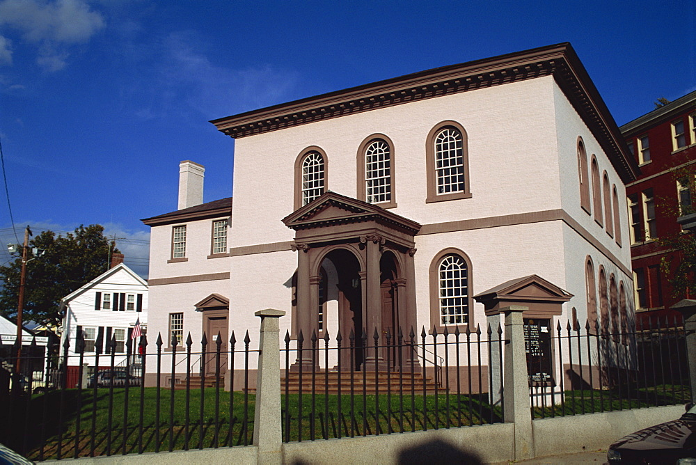 The Touro Synagogue, dating from 1759, and the first built in the USA, Newport, Rhode Island, New England, United States of America, North America