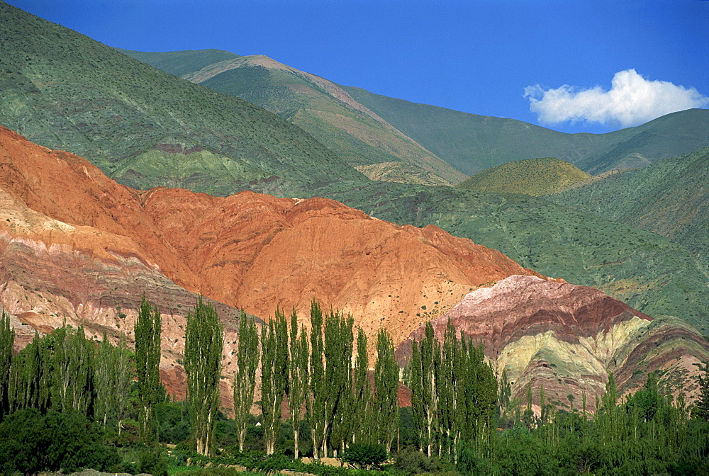 The Seven Colours mountain at Purmamaca near Tilcara in Argentina, South America