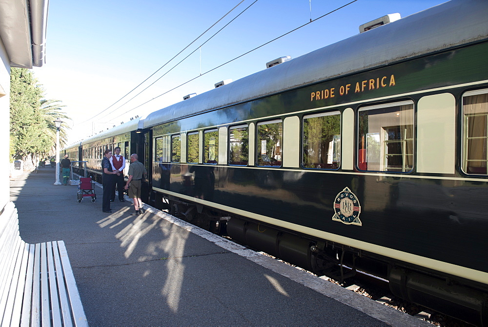 Pride of Africa Rovos train in Matjiesfontein, Western Cape, South Africa, Africa