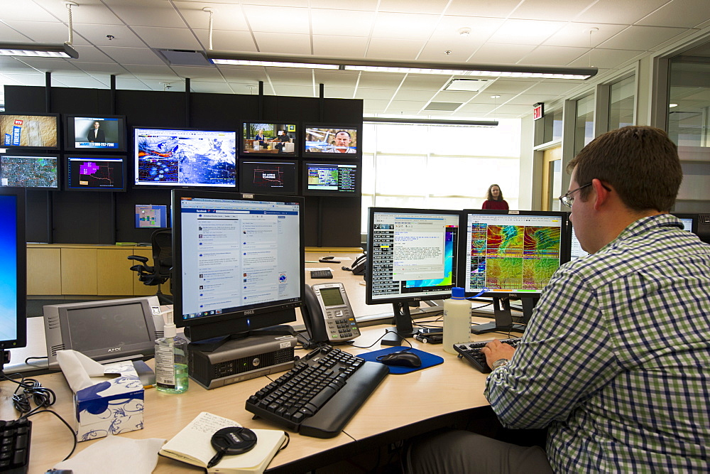 Jonathan Kurtz, forecaster and meteorologist at the National Weather Center Forecast Office in Norman, Oklahoma, United States of America, North America
