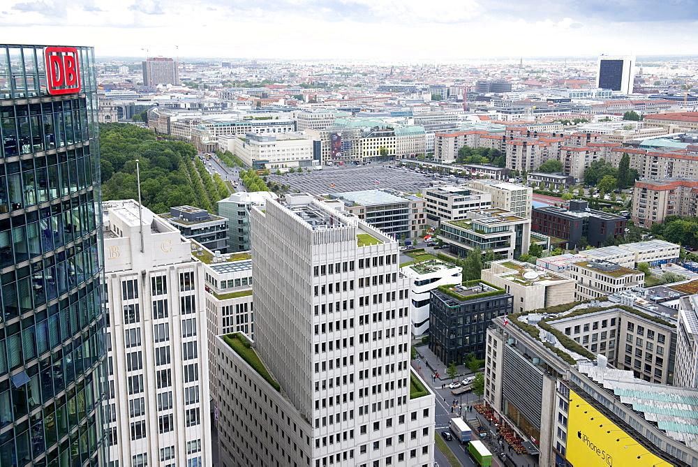 From the top of the Kollhoff building on Potsdamer Platz, Berlin, Germany, Europe