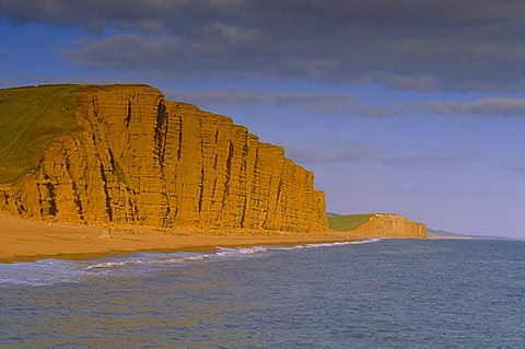 West Bay Beach and cliffs, Dorset, England, UK