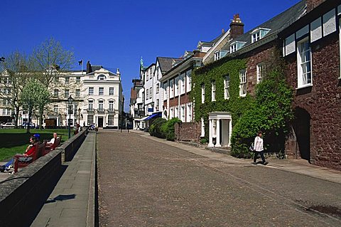 Cathedral Close, Exeter, Devon, England, United Kingdom, Europe - 478-2717