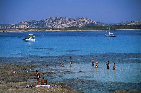 La Pelosa, near Stintino, north coast, Sardinia, Italy, Mediterranean, Europe