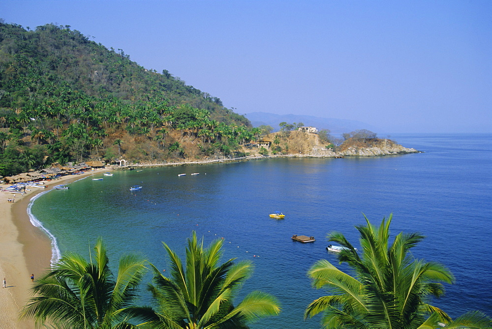 Mismaloya, Puerto Vallarta, MexicoOn the headland are the ruins of the house used in the film 'Night of the Iguana'