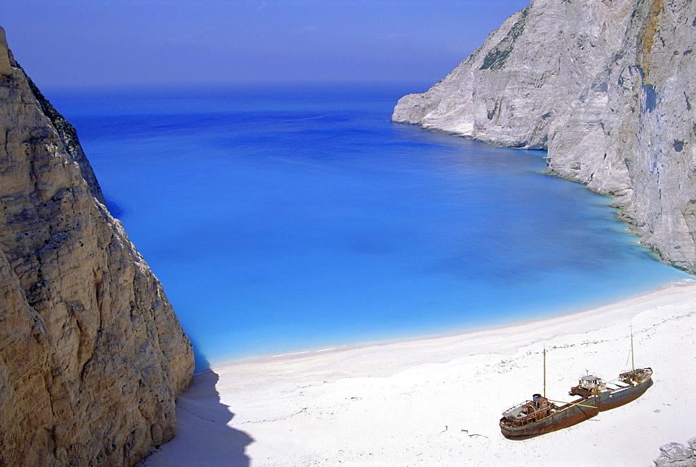 Shipwreck Cove, Zakinthos, Ionian Islands, Greece, Europe - 478-3248