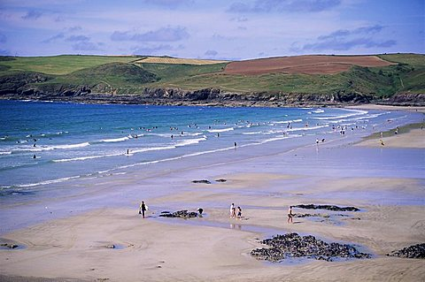 Pentire Point, Polzeath, Cornwall, England, United Kingdom, Europe