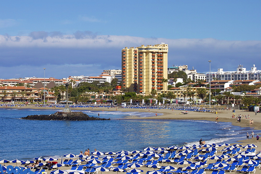 Playa de las Vistas, Los Cristianos, Tenerife, Canary Islands, Spain, Atlantic, Europe