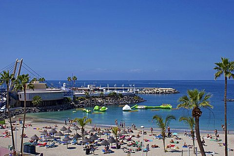 Playa Torviscas, Playa de las Americas, Tenerife, Canary Islands, Spain, Atlantic, Europe