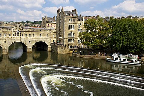 Pulteney Bridge and River Avon, Bath, UNESCO World Heritage Site, Avon, England, United Kingdom, Europe - 478-4707