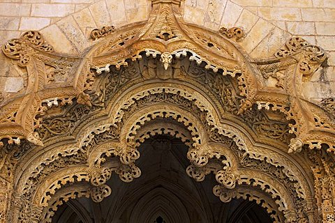 Unfinished chapels, Santa Maria da Vitoria Monastery, UNESCO World Heritage Site, Batalha, Portugal, Europe