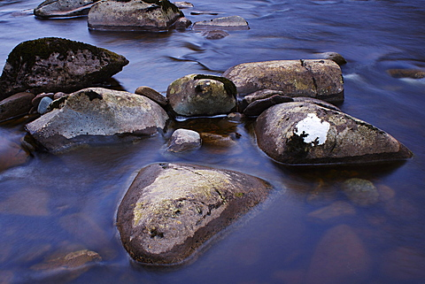 River Stones, Knaik Water, Perthshire, Scotland, United Kingdom, Europe