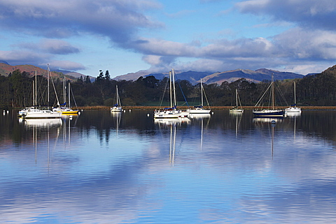 Sunrise, Ambleside, Lake Windermere, Lake District National Park, Cumbria, England, United Kingdom, Europe