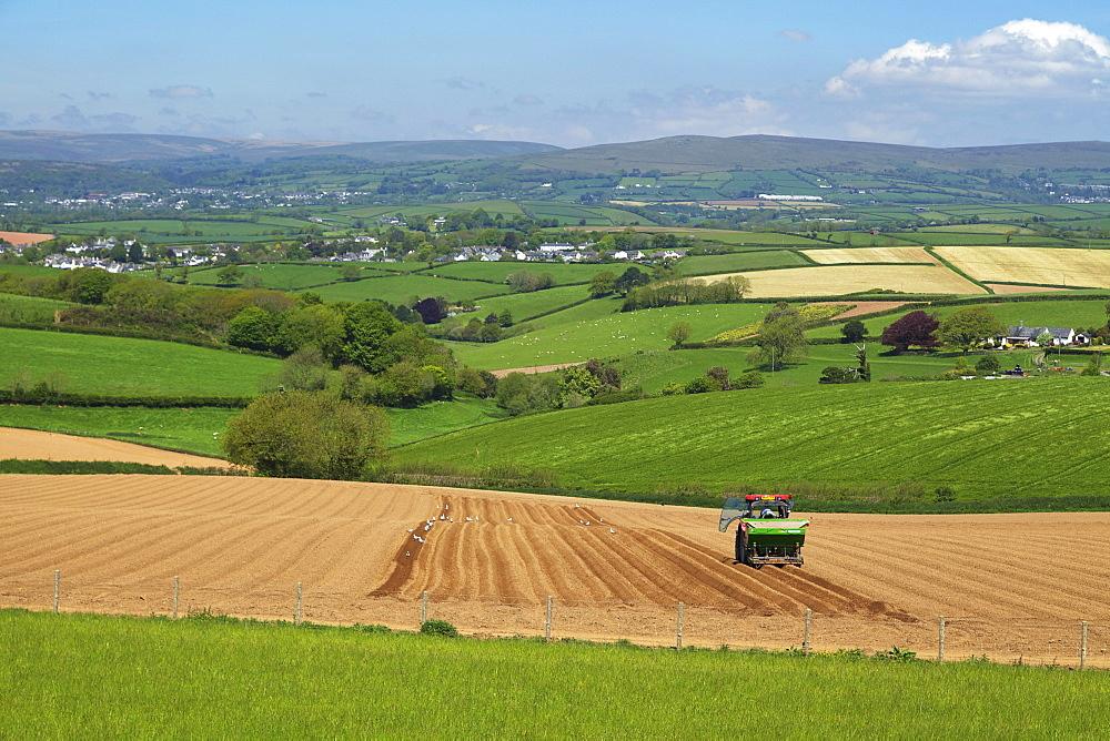 Dartmoor from near Kingsbridge, Devon, England, United Kingdom, Europe