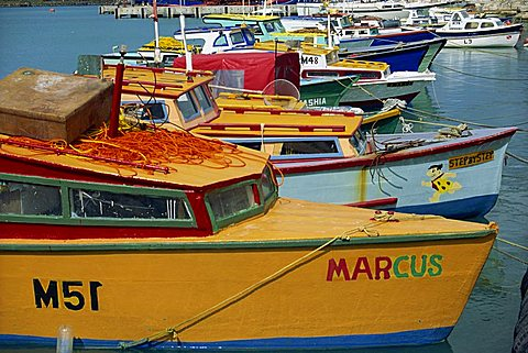 Fishing boats, Barbados, West Indies, Caribbean, Central America