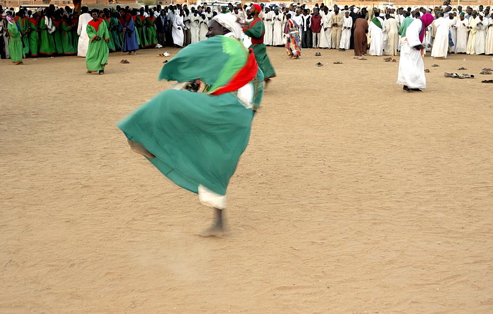 Whirling dervishes, dancer at Sufi ceremony, Omdurman, Sudan, Africa