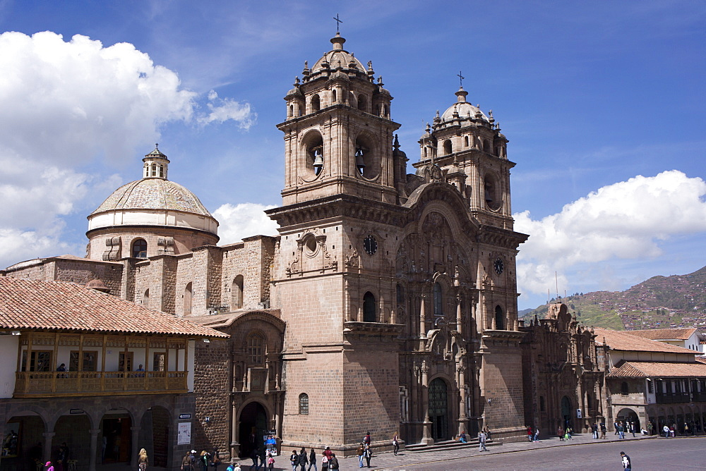 Compania de Jesus church, Plaza de Armas, Cuzco, Peru, South America