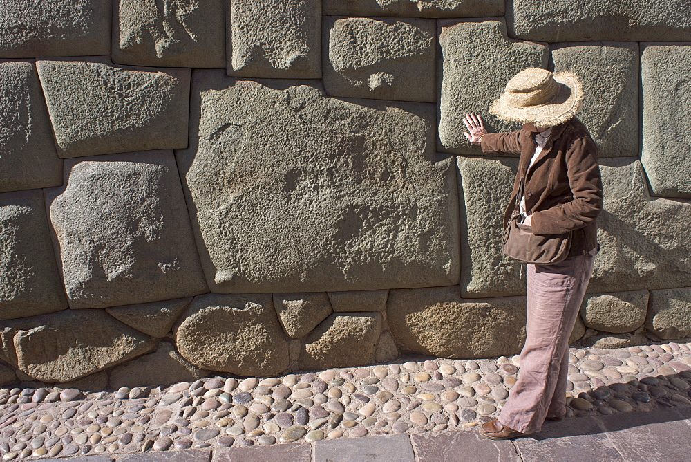 Magnificent example of Inca craftsmanship shown in this 12 sided stone, Peru, South America